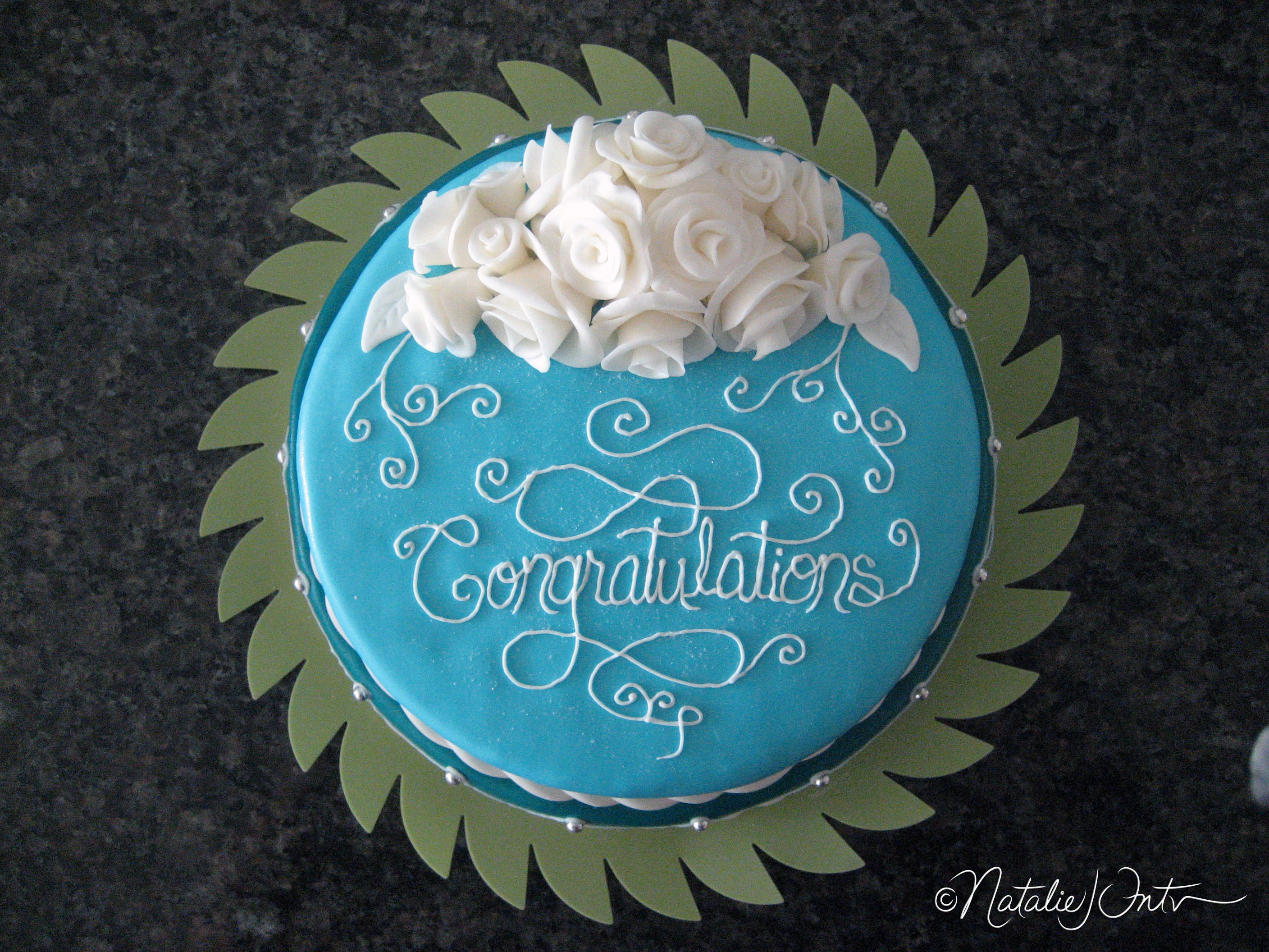 Congratulation Cake Images With Name : Congratulations Cake (with white roses) Natalie Intven