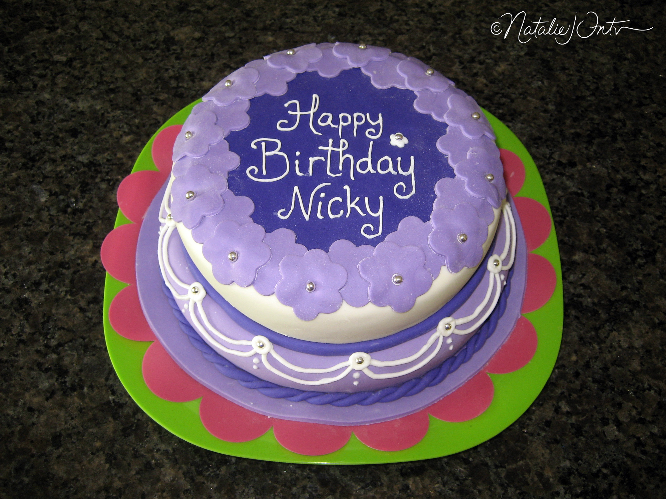 Pretty Purple Birthday Cake Natalie Intven