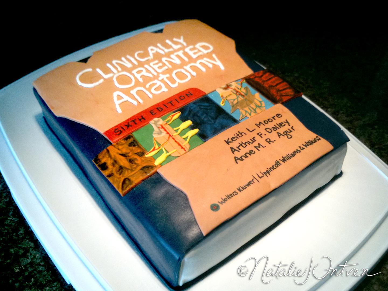 Anatomy Textbook Cake | Natalie Intven
